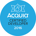 Drupal 8 Acquia Certified badge