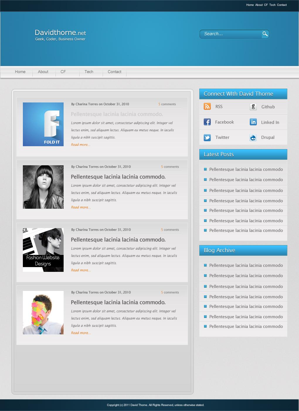 Desktop design for review and davidthorne.net